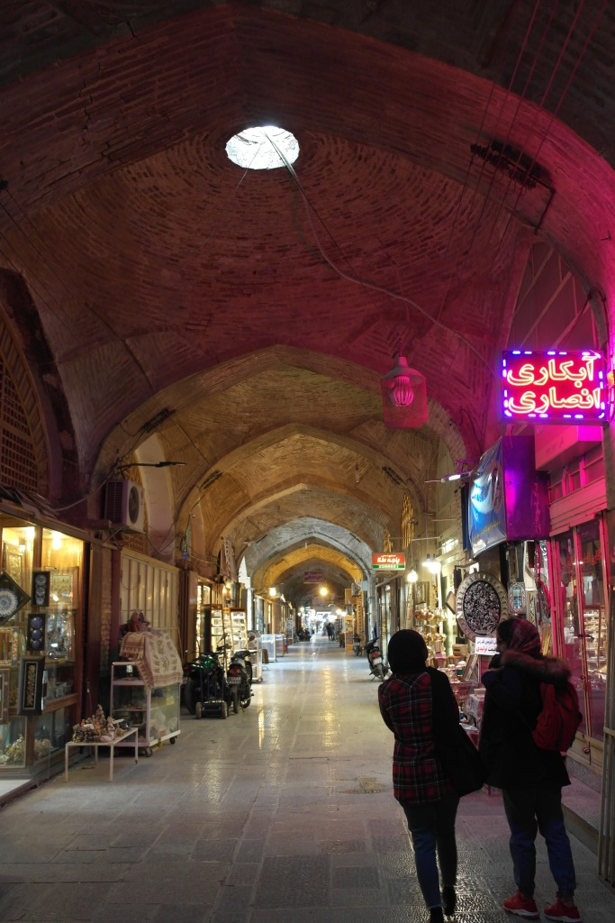 esfahan empty bazaar