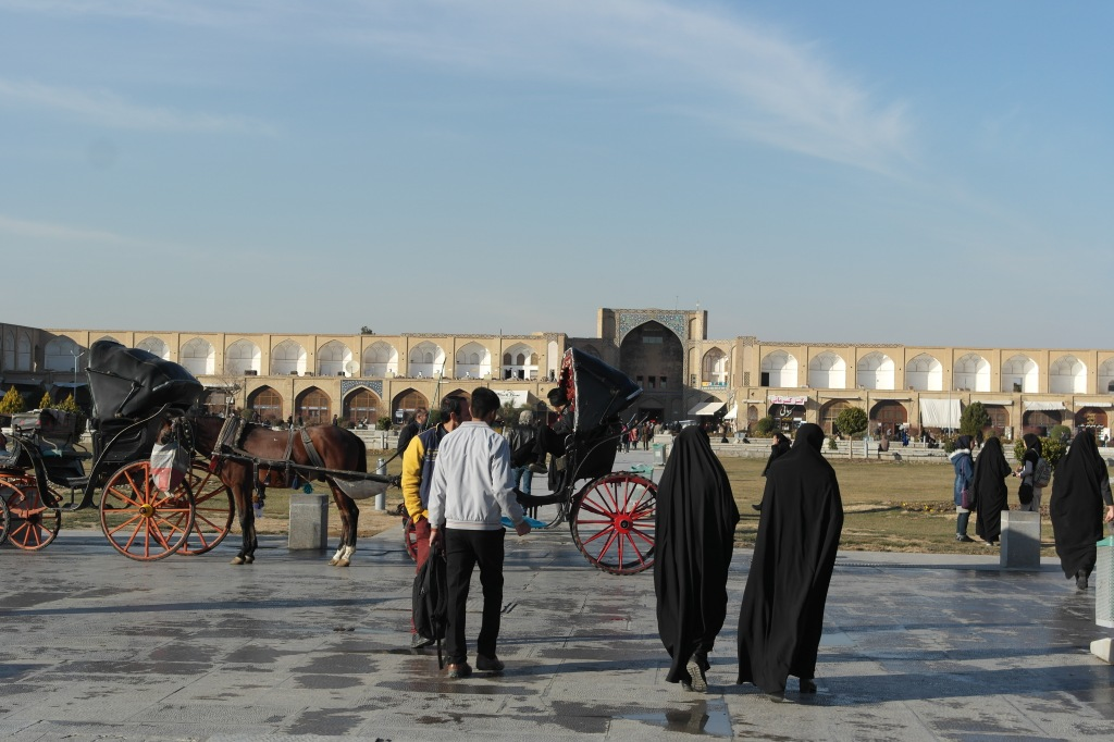 esfahan square people