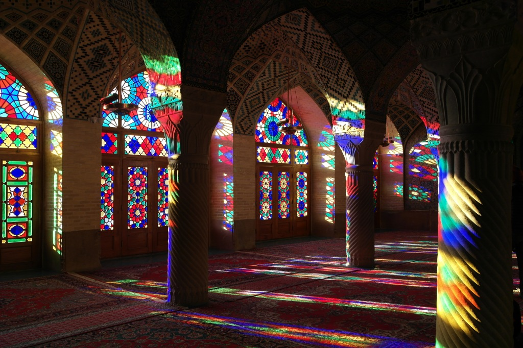 pink mosque shiraz iran