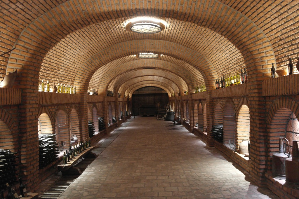kakheti wine tour tunnel