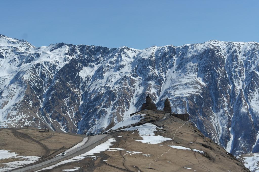 trinity church kazbegi mountains