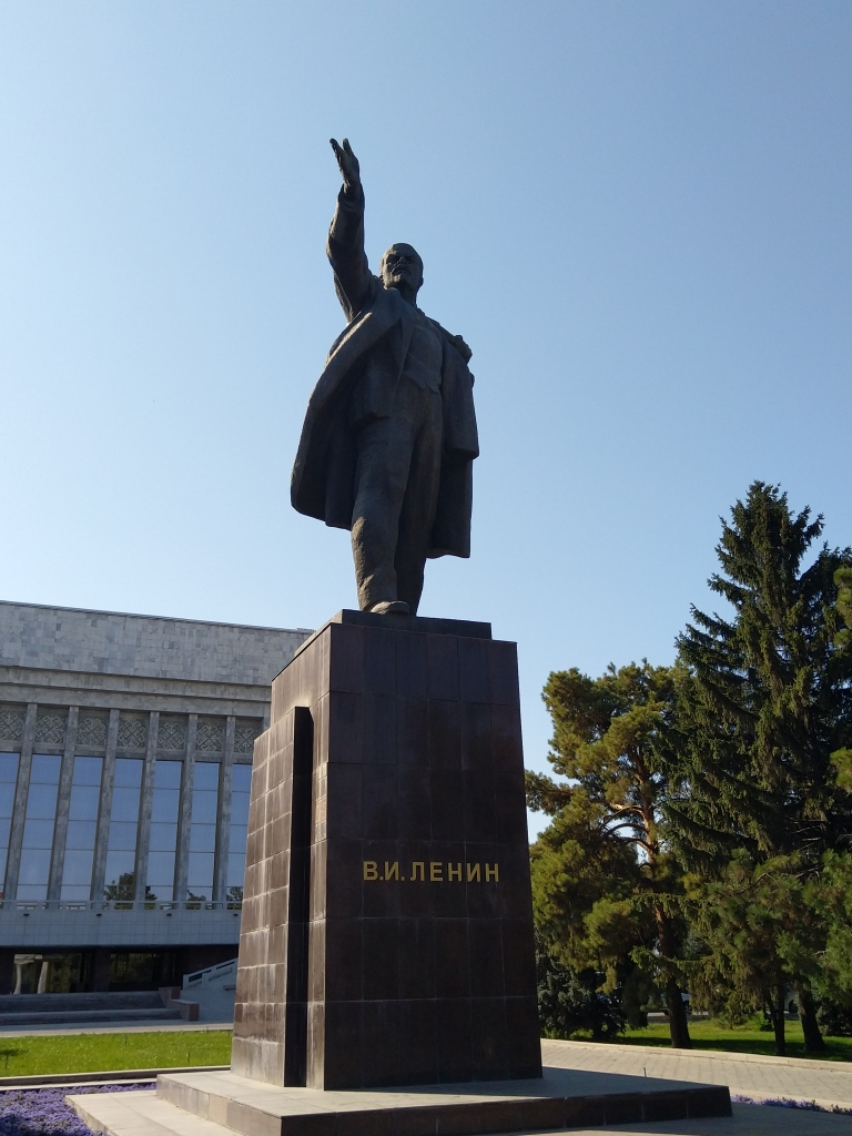 Lenin monument Bishkek Kyrgyzstan