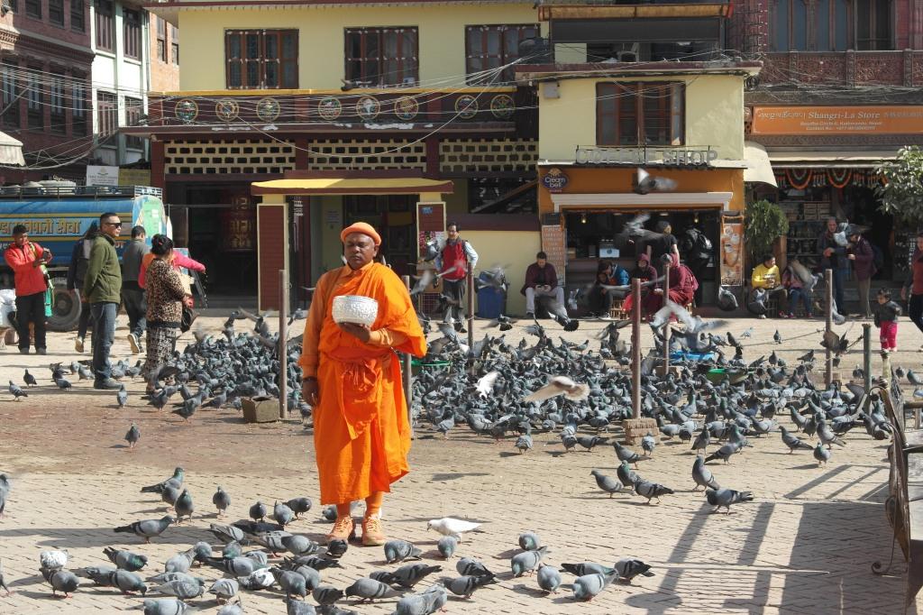 Nepalese Monk in Kathmandu