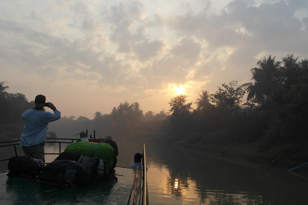 cambodia boat trip sunrise